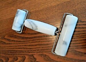 Norpro Marble Pastry/Pizza/Pasta Roller Two Wheels Excellent Condition