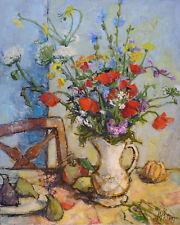 Guily JOFFRIN (1909-2007) HsT 1964 Fleurs Nouvelle Ecole de Paris Jeune Peinture