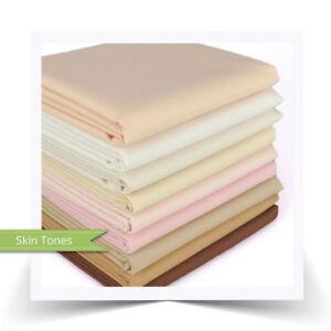 "FQ Bundle Cottons: Kona Solids ""Skin Tones"", 9 Fabrics"