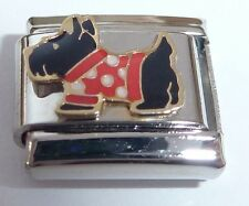 SCOTTIE DOG Italian Charm CHRISTMAS Terrier Scottish 9mm fits Starter Bracelets