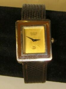Gucci Ladies Watch, 925 Sterling Plated Back, Leather ~For Parts or Repair Only~
