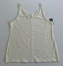 0797b35799117 J. Jill Long Perfect Tank Sleeveless Top in Ivory Pettie Size XLP - NEW