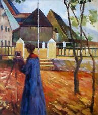 Kandinsky Gabriele Munter Painting Repro, Hand Painted Oil Painting 20x24in