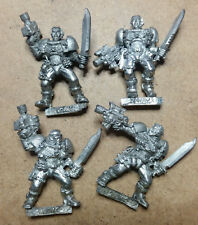 Warhammer 40k Space Marine Scouts x 4 - Metal - Stripped