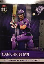 2016 Tap n Play ... BBL Silver Game Card... DAN CHRISTIAN .. Hobart HURRICANES.