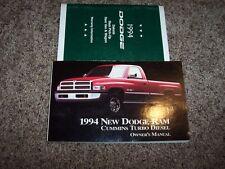 1994 Dodge Ram Truck Cummins Turbo Diesel Owner Operator Manual 5.9L V6