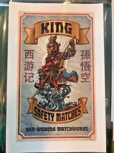 Chet Phillips - Monkey King - Signed Numbered X/25 Movie Art Print - Obey Mondo