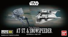 At-ST & snowspeeder set modelo kit de Bandai, Star Wars Vehicle-serie 008