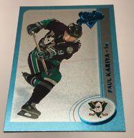 Paul Kariya /500 made OPC Premier Blue Insert Parallel Hockey Card 8 Ducks