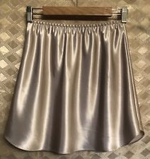 "Vintage Farr West Glossy Shiny Satin Beige Half Slip Size Large 17"" Long"