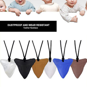 Baby Teether Silicone Shark Chew Necklace Food Grade Sensory Chewable ToyCWDESJ