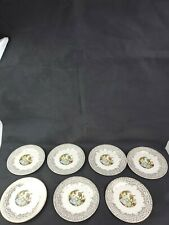 "Limoges American China d'Or Triumph 6.5"" Desert Plates 1T-S284 22K Gold"