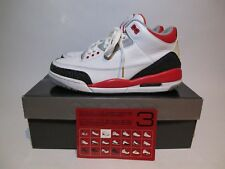 2007 Retro Air Jordan 3 III Size 9 Fire Red Cement Nike Rare Supreme 2 4 5 6 7 8