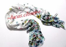 Old Navy women's one size  floral scarf white