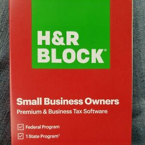 2020 H&R Block Small Business Owners Premium & Business Tax Software FREE SHIP!!