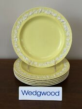 Antique Wedgwood Embossed YELLOW QUEEN'S WARE Salad Plate c.1919 (A) ~ Set of 6