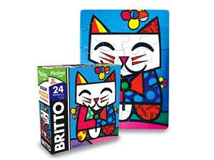ROMERO BRITTO JIGSAW PUZZLE - CAT - 24 PIECES