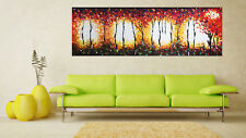 "71"" x 24"" original art painting landscape fire tree forest Landscape Australia"