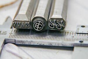 Hard Metal Stamp Steel Punches Blacksmith Stamp Custom Logo Stamp Alphabet Set