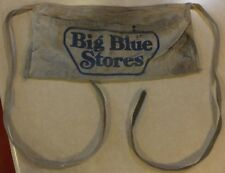 VINTAGE BIG BLUE STORES CANVAS NAIL TOOL APRON BLUE LETTERING