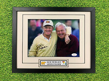 Jack Nicklaus Arnold Palmer Signed Photo Jsa Auto Custom Framed PGA