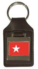 Leather Keyring  Engraved Maastricht City Netherlands Flag