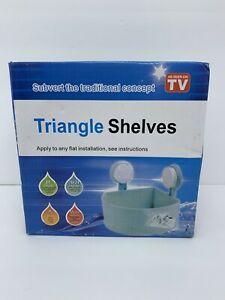 Shower Corner Shelf Triangle Shelf As Seen On TV With Suction Cups White New