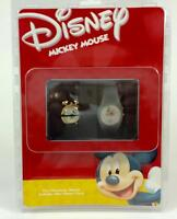 Disney Mickey Mouse Character Watch and Mini Metal Character Clock Rare NIB
