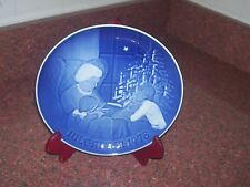 B&G Christmas Plate 1978 A Christmas Tale Blue And White