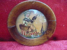 Pretty, Old Miniature - Painting__Miniature__ Girl with Umbrella __Signed___