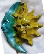 Handmade Collectible Sun & Moon Wall Sculpture, Signed, Numbered Art Value