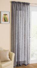 Grey Sparkle Voile Curtain Panel Slotted Top 54 Wide X 72 Drop 138cm X 183cm