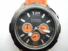Fossil chronograph mens silicon rubber band Analog watch.Ch-2540.quartz battery.