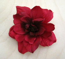 "2.5"" Red Apple Blossom Silk Flower Hair Clip, Pin Up Updo,Hat,Scarf,Rockabilly"