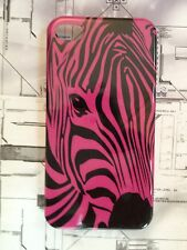 Ultra Thin Hard Crystal Zebra Case Cover iPhone 4 4s Colour Choice Screen Guard