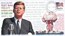 COVERSCAPE computer designed 50th anniversary JFK Test Ban treaty event cover