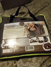 K&H Classy Go Carrier small dog carrier NEW brown green