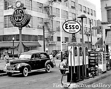 Esso Gas Station - 1940 - Vintage Photo Print
