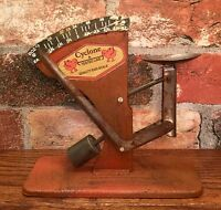 "CYCLONE ""A Tested Line"" Vintage Style Tin Poultry Egg Scale"