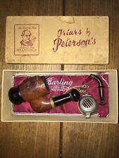 Barling pipe stag engraved wooden vintage