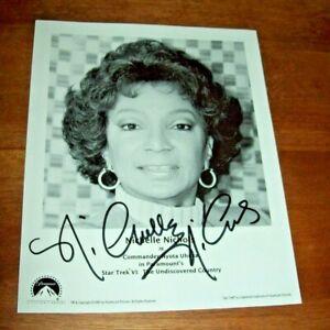 Star Trek VI Nichelle Nichols Autographed 8x10 Picture-B&W