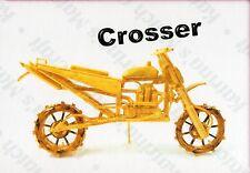 CROSSER MOTORBIKE MATCHSTICK MODEL CRAFT KIT, BRAND NEW