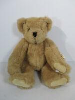 """Vermont Teddy Bear Co Furry Brown Teddybear Plush Vintage 1992 Tags 17"""" Tall"""