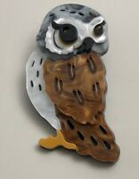 Unique Large  acrylic Owl  brooch pin