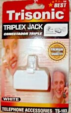 Trisonic Triplex Jack Telephone Accessories Fax Answering Machine Phones - NIP
