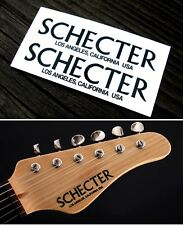 Schecter Strat Headstock Decals Waterslide Decal Vintage Guitar Stratocaster