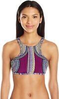 Red Carter 170269 Womens High Neck Bikini Top Swimwear Plum Multi Size Small
