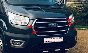 Ford Transit Van MK8 2019Up Chrome Front Grill inner Strips 4Pcs. S.Steel