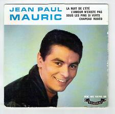 """Jean-Paul MAURIC Vinyl 45T EP 7"""" LA NUIT DE L'ETE -L'AMOUR.. -FESTIVAL 1270 RARE"""