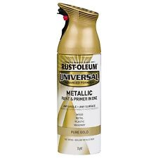 Rust-Oleum Universal METALLIC PAINT + PRIMER in One Spray PURE GOLD, 312g